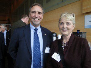 Michael Skelton of the Richardson Chamber of Commerce with Marie Larsson of the Swedish-Canadian Chamber of Commerce.
