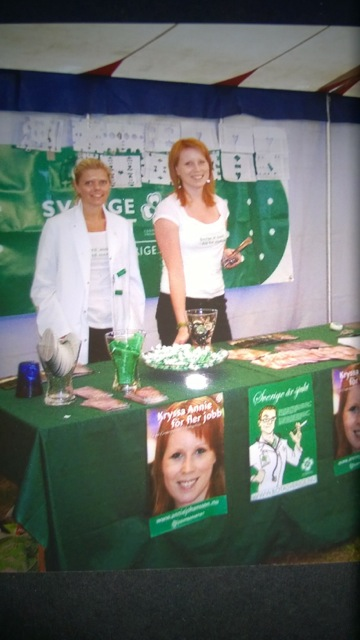 Malin with Annie Loof in 2006