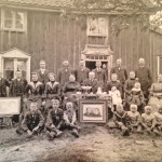 Clarence Blomberg's photograph of his relatives outside their home in Barkeryd Småland.